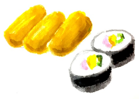 수채화 유부 초밥