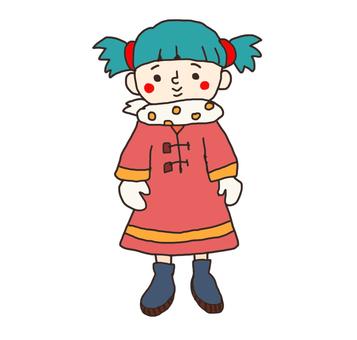 Winter girl illustration