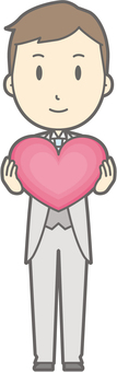 Groom clothes - Heart - whole body