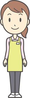 Home helper woman -278-whole body