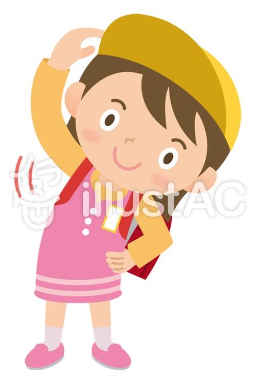 体操する小学生の女の子イラスト No 353432無料イラストなら