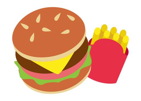 Hamburger and potato
