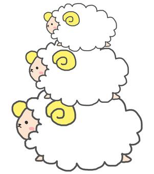 She has three sheeps.