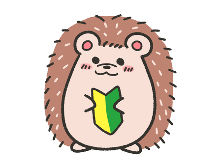 Hedgehog with beginner mark