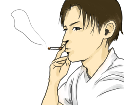 Men smoking tobacco