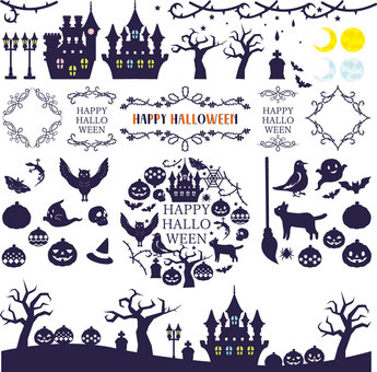 Halloween silhouette assortment