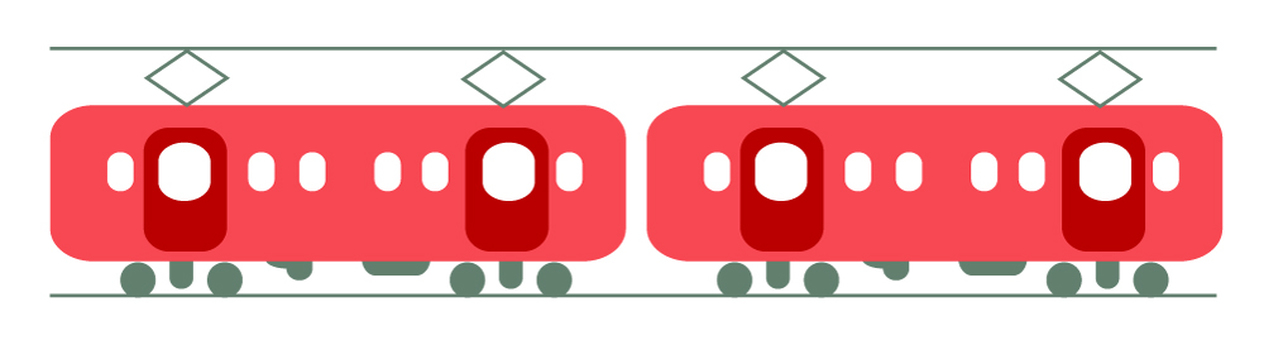 Illustration of a train (red)