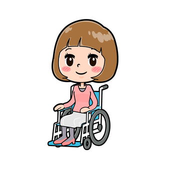 Young woman in wheelchair
