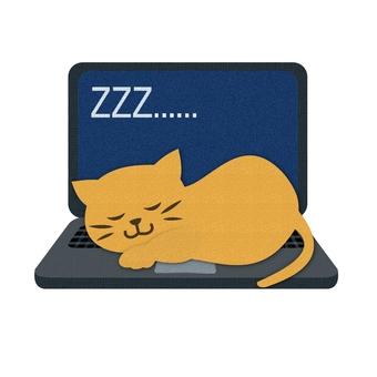 A nap on a computer