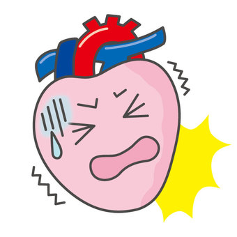 Heart with seizure