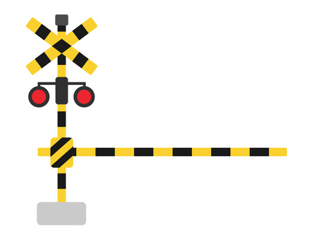 Illustration of railroad crossing