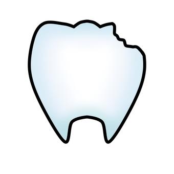 빠진 치아 (윤곽선 있음)