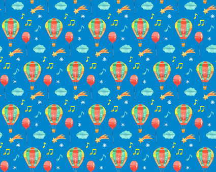 Balloon and balloons pattern