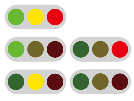 Simple traffic light icon set