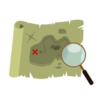 Magnifying glasses and maps