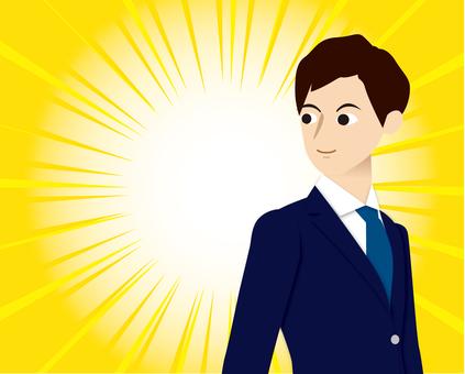 Male suits salaryman recruit