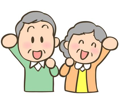 Elderly men and women motivated