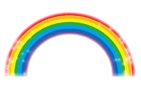 Glittering rainbow