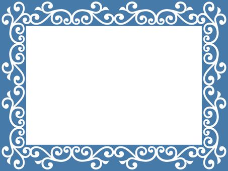 Frame of arabesque pattern