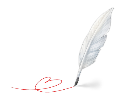 Feather pen (white)