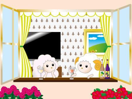 Sheep's holiday
