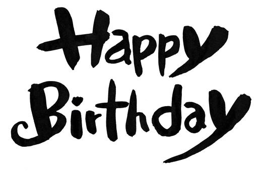 Pen writing - happy birthday