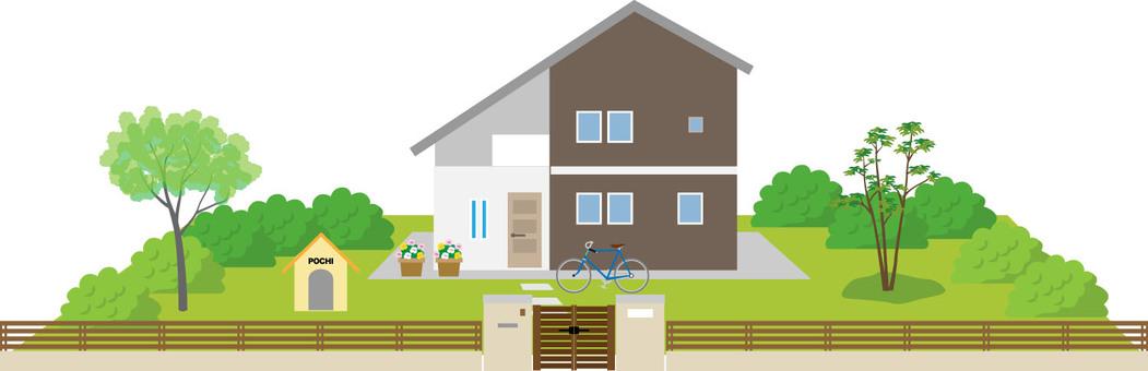庭付き 주택 3