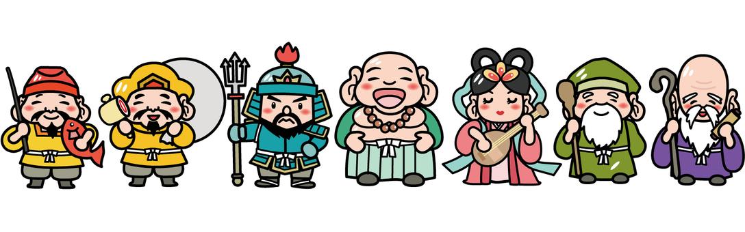 Seven Lucky God Illustration B