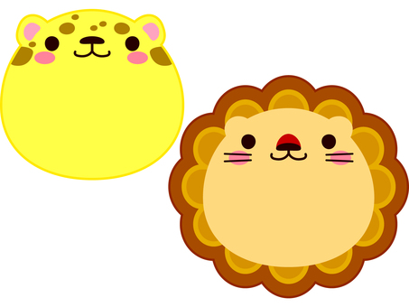Face Animal Cheetah and Lion