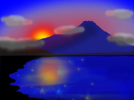 Sunset of Fuji (Lake Yamanaka)