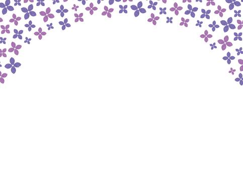 紫陽花フレーム02