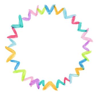 Heart frame (round / colorful)