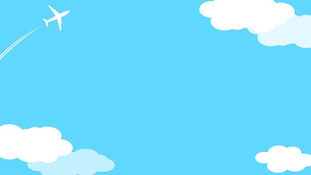 구름과 비행기