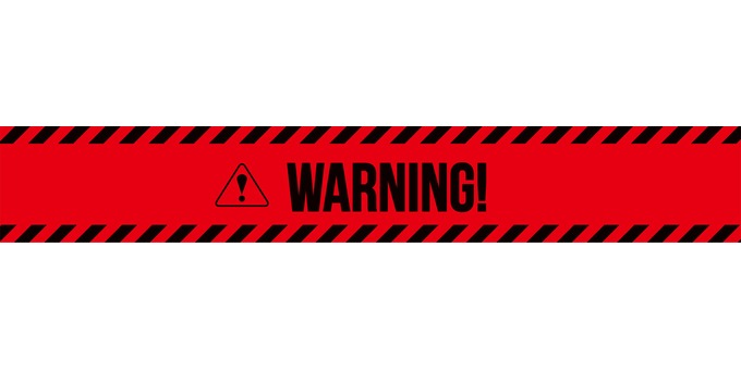 WARNING Attention · Warning icon Banner