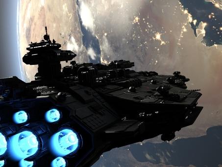 宇宙戦艦と地球
