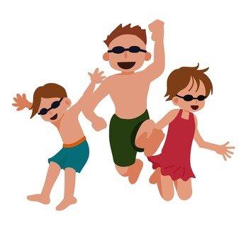 Children of swimsuits