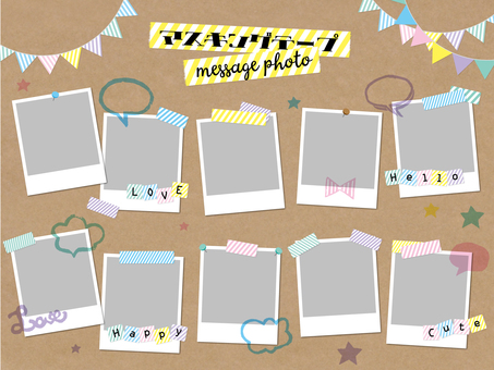 Masking tape photo message