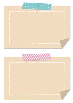 Taped notes