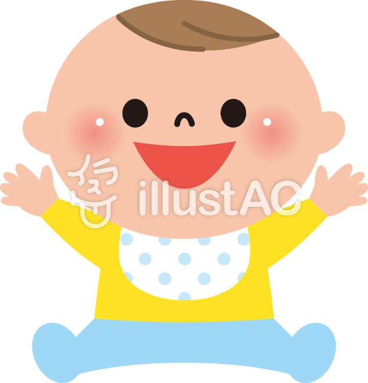 赤ちゃん笑顔イラスト No 261651無料イラストならイラストac
