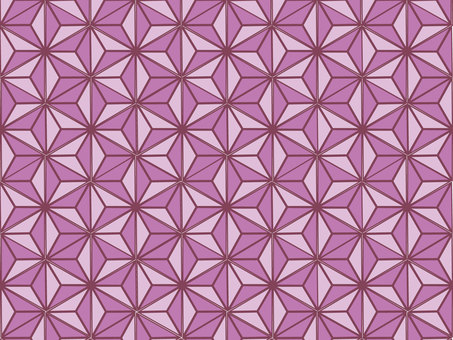Background of Japanese Pattern (Hemp leaf 3)