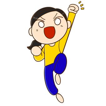跳躍的女人