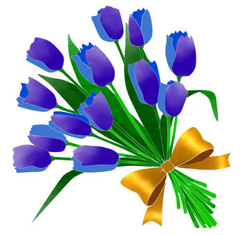 Tulip bouquet blue 2