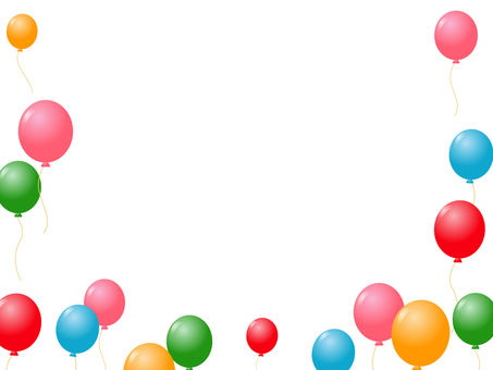 Balloon decorative frame 9