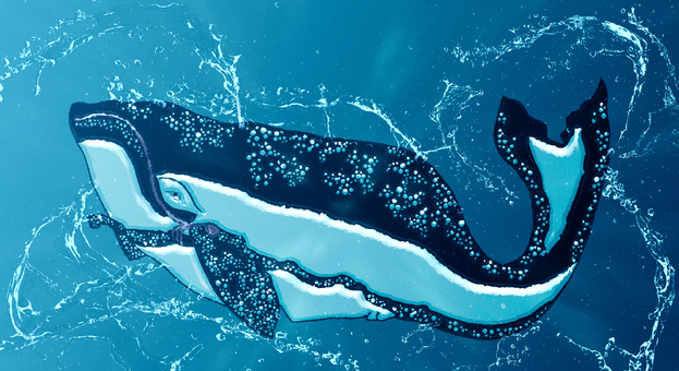Ukiyo-e whale water version
