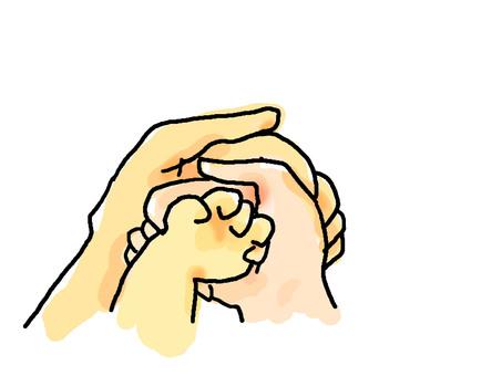 Family hand