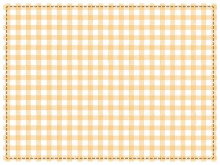 Patchwork check pattern Orange