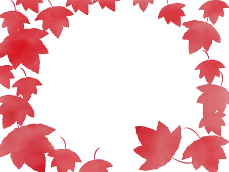 紅葉 水彩