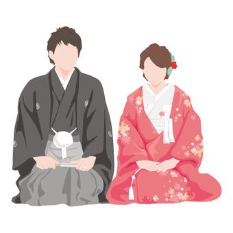 Wedding _ bride and groom _ kimono