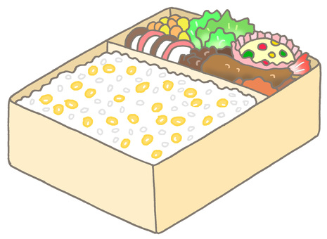 Corn rice box lunch