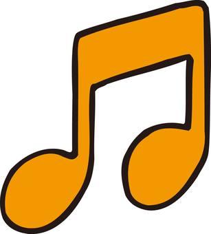 Half note, music, note